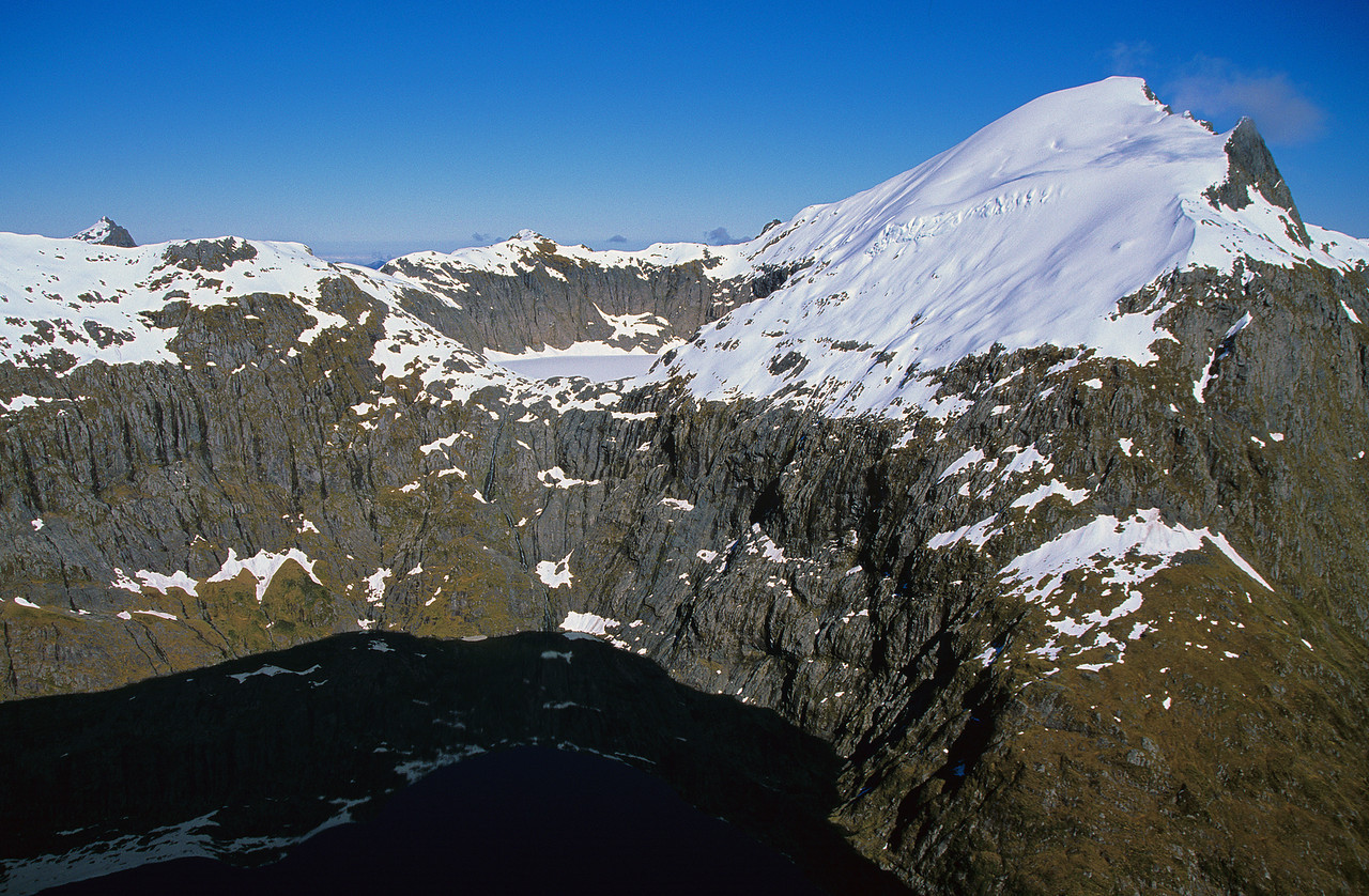 Lake Quill and unnamed peak 1885m