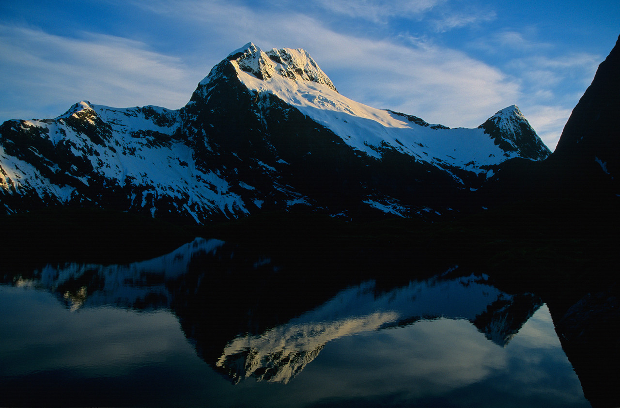 Mount Elliot and Mount Wilmur from MacKinnon Pass
