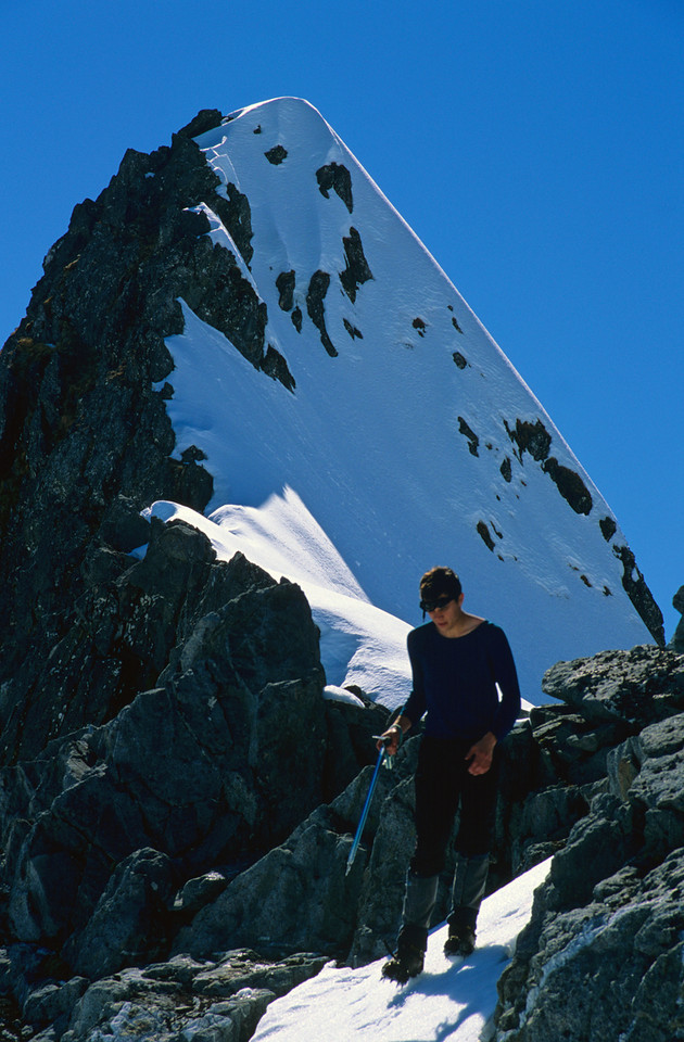 Peter and the summit of Mount Hart
