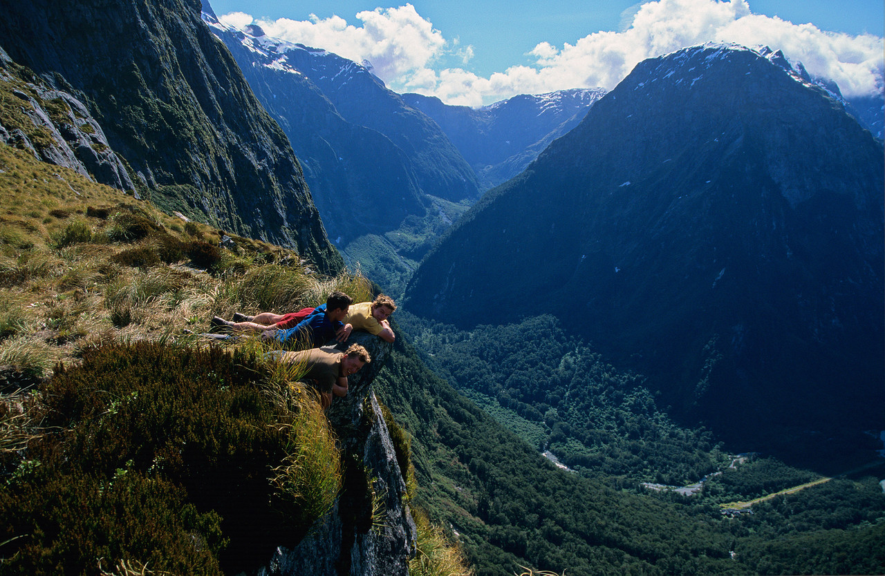 Looking down from MacKinnon Pass. Staircase Creek and Mount Pillans in the back
