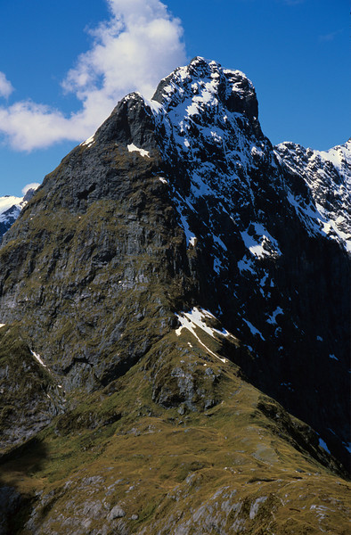 Mount Balloon towering above MacKinnon Pass