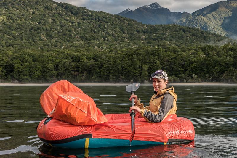 Paddling Lake Manapouri