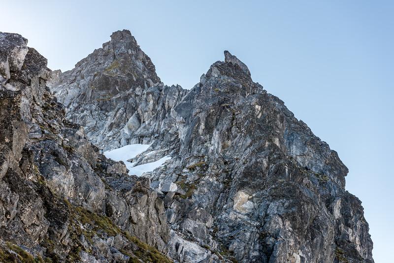 The east ridge of Pt 1720m, Kepler Mountains