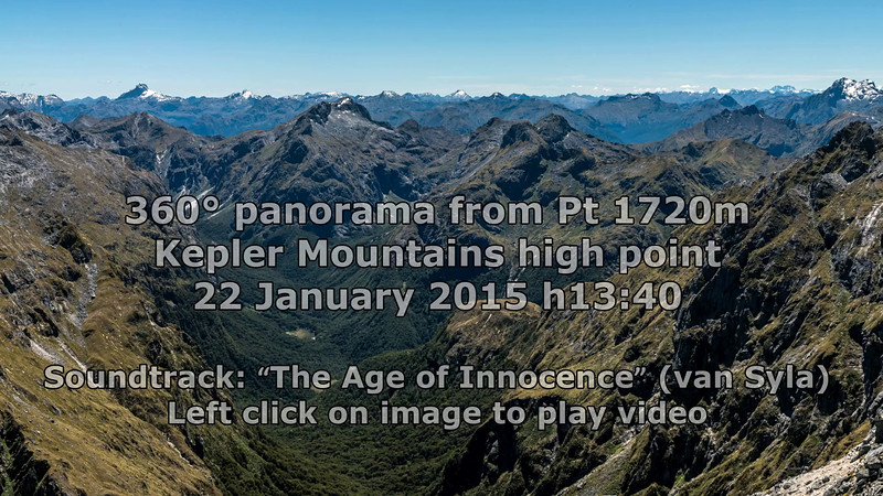 360° panorama from unnamed peak Pt 1720m, highest peak in the Kepler Mountains