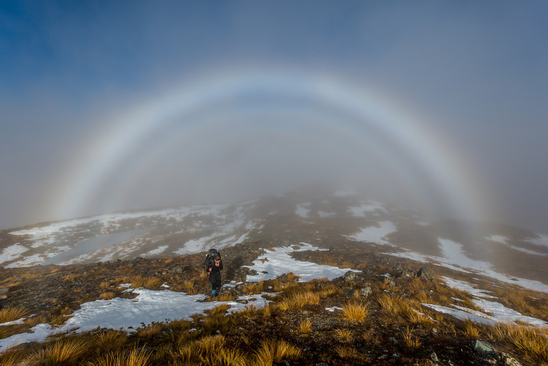 Cloudbow on the Livingstone Range tops