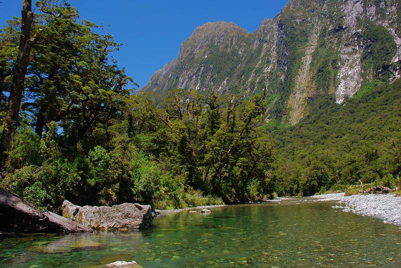 Sinbad River. Mt Philipps at centre image