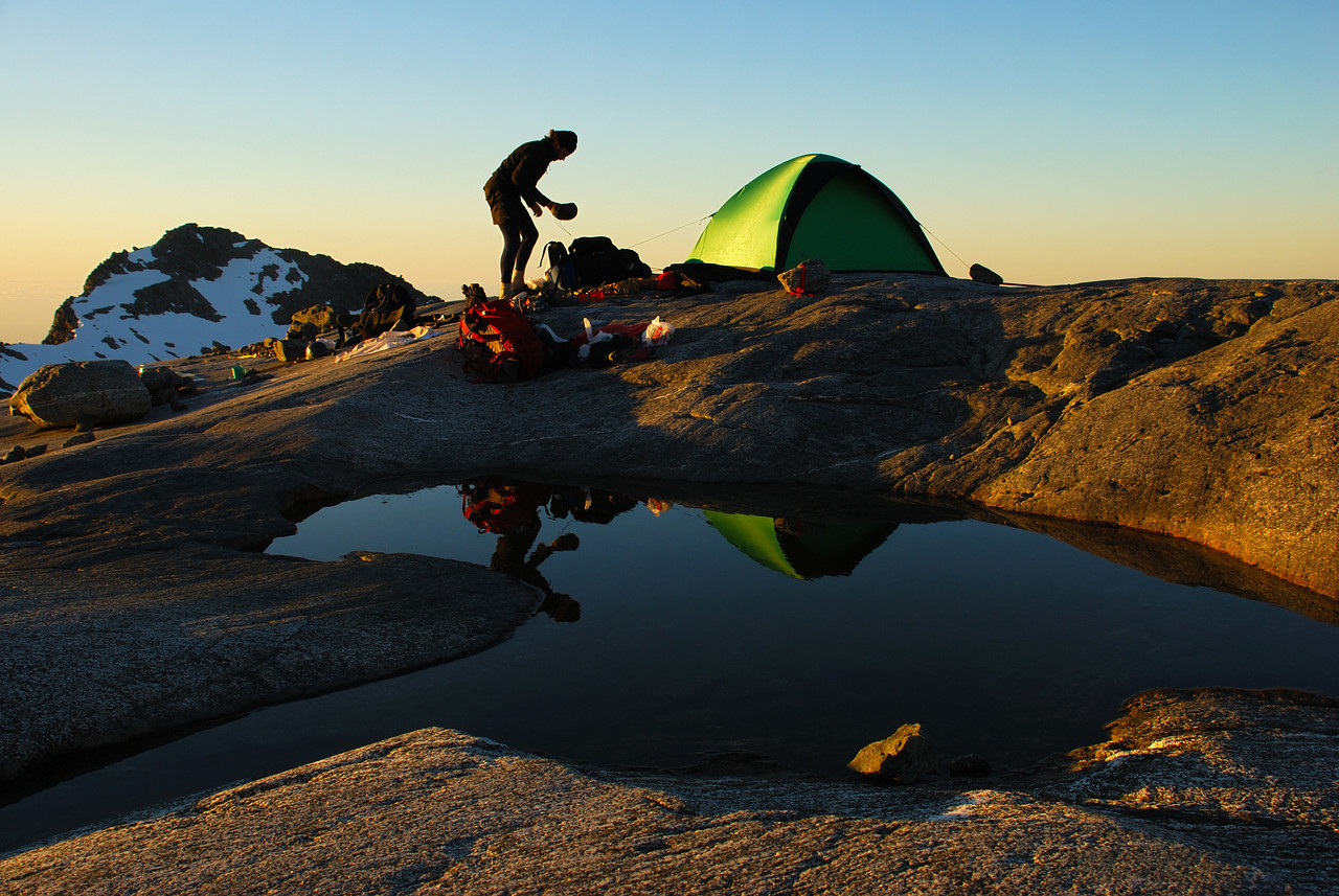 Campsite at 1700m on the Llawrenny Peaks