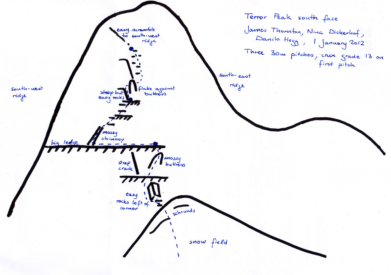 Our route on Terror Peak