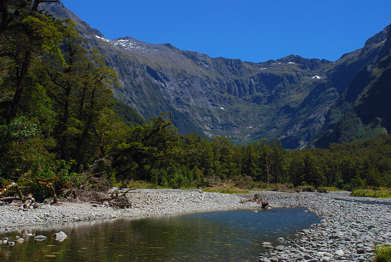 Sinbad Gully. Looking up towards the head of the valley