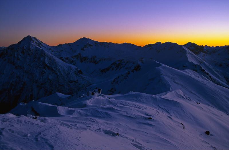 The Jackson Peaks at dusk