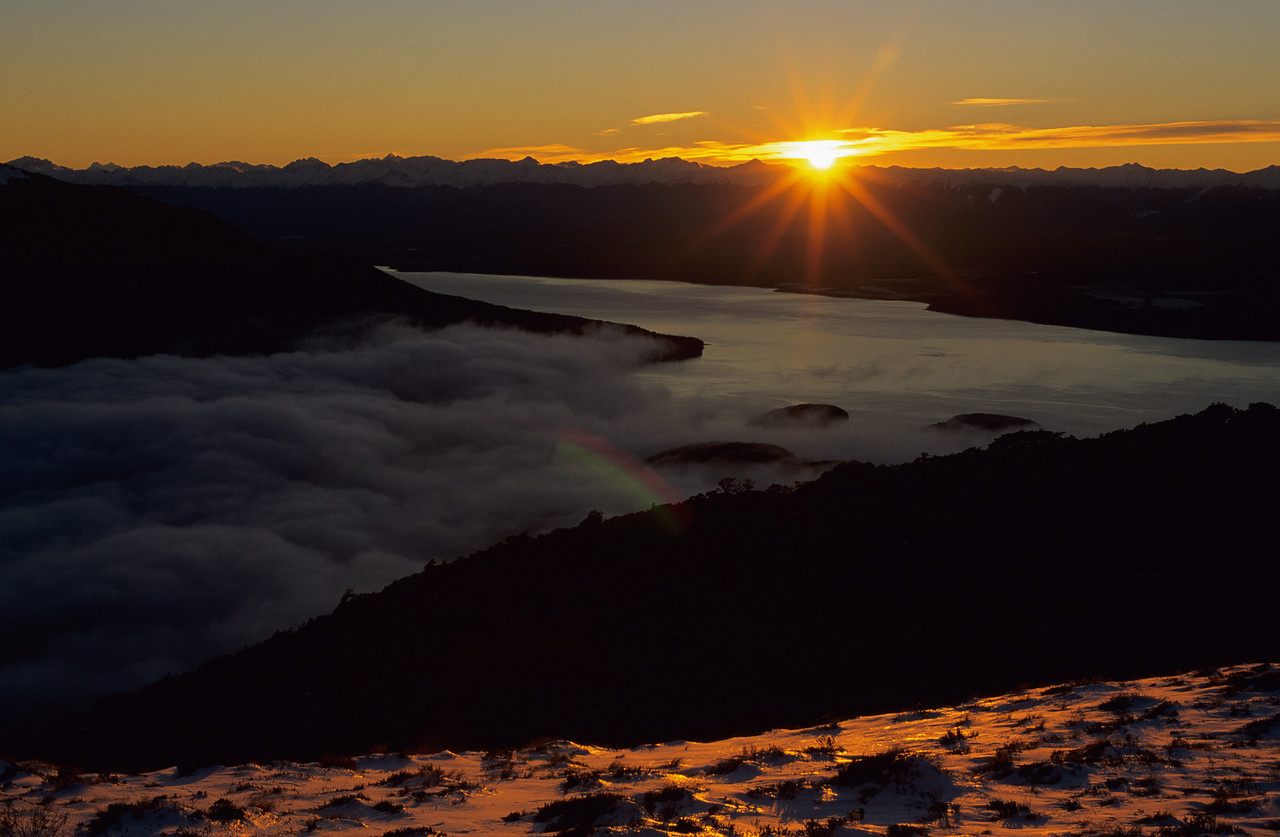 Sunrise at Luxmore Hut