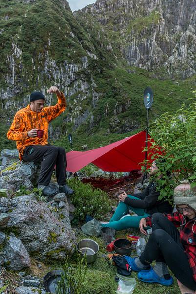 Campsite at the head of MacKay Creek