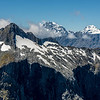 """Terror Peak, Mount Tutoko and Mount Madeline from """"The Watchtower"""" (Pt 1674m)"""