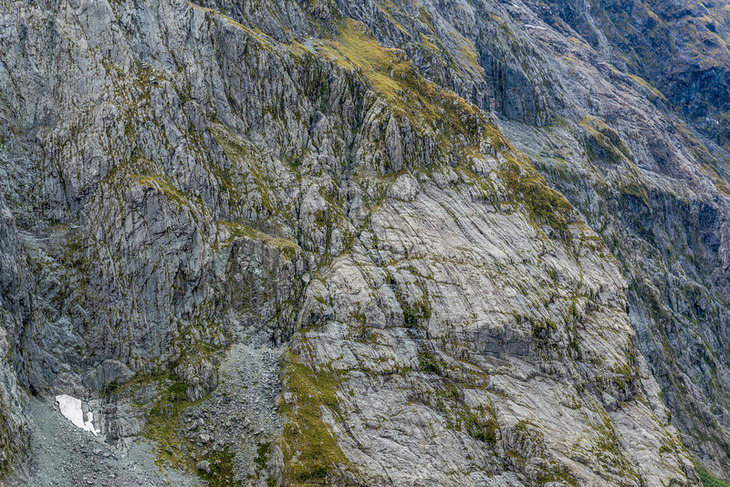 And yet another view of our route through the MacKay Creek headwall