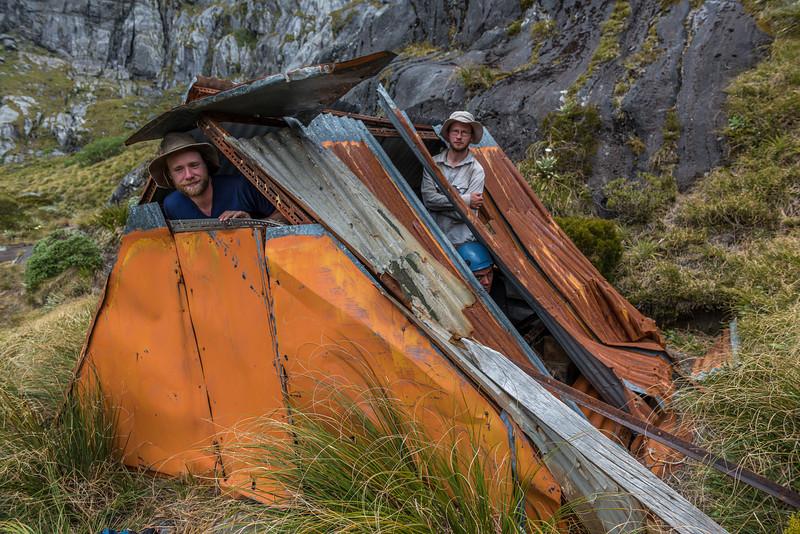 A weatherproof hut for sure!