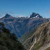 Mount Kepka and Mount Elliot from the MacKay Creek headcirque