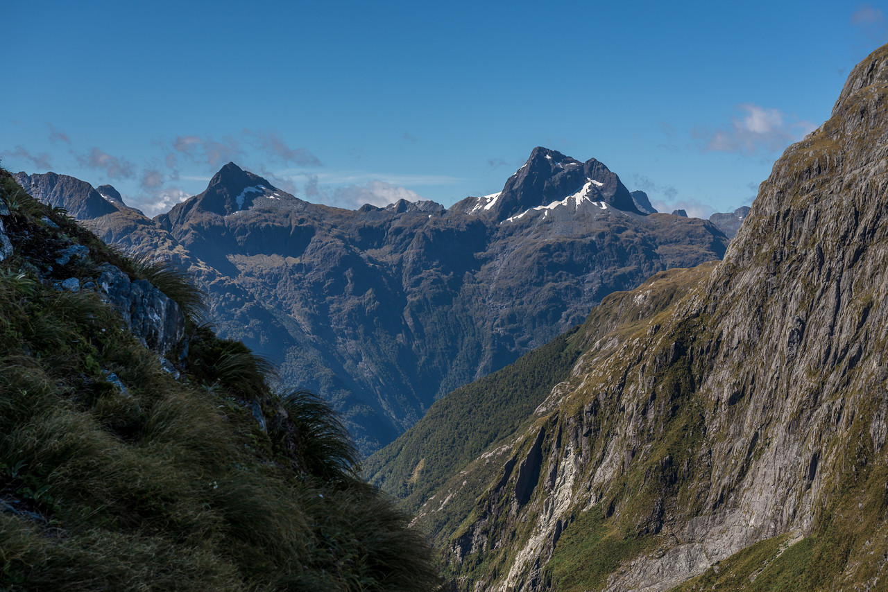 Mount Kepka and Mount Elliot from the MacKay Creek headcirque