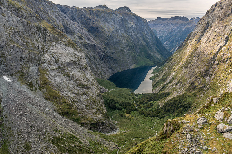 """View down MacKay Creek from the bluffs above """"Disgusting Saddle"""""""