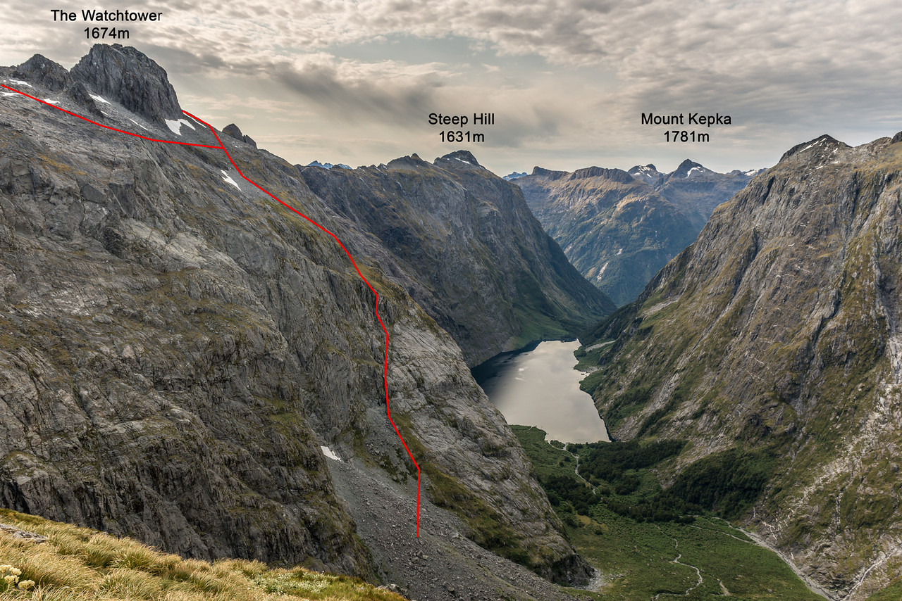 Our route out of the MacKay headcirque