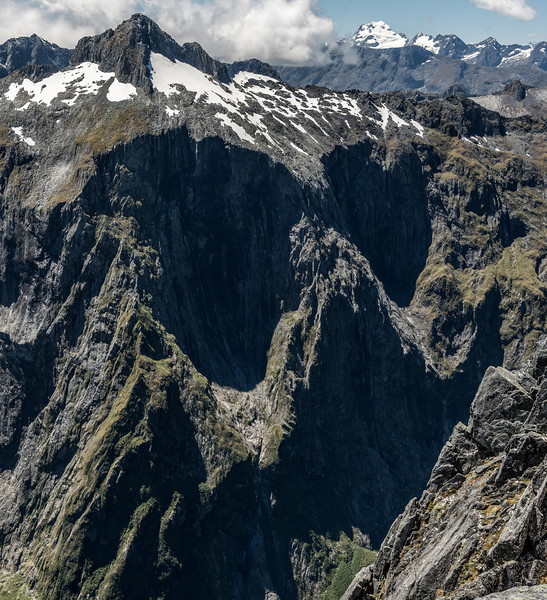 """""""The Face of Terror"""" - the formidable south-west face of Terror Peak. Mount Madeline is back right"""