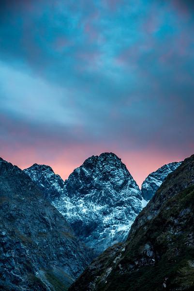 Marian Peak, Sabre Peak and Adelaide Peak