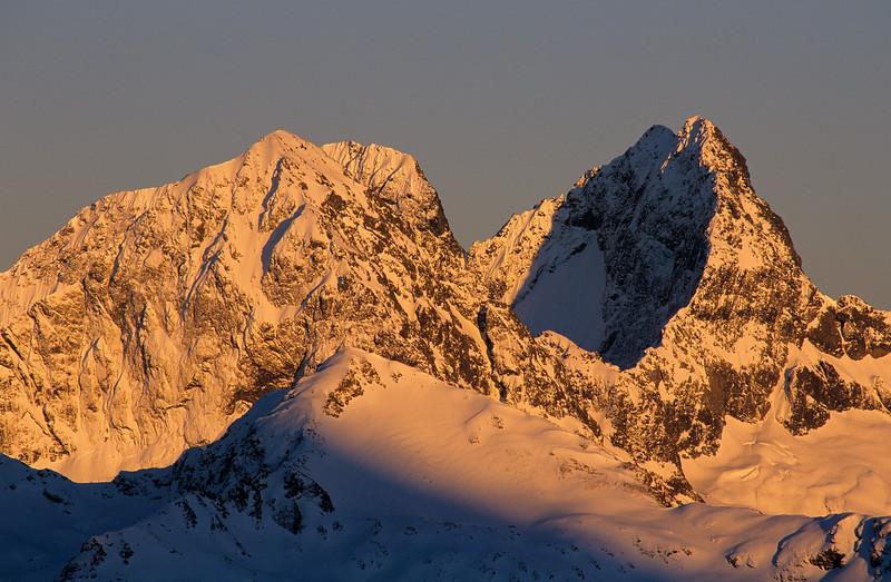 Ngatimamoe Peak, Flat Top Peak and Pyramid Peak