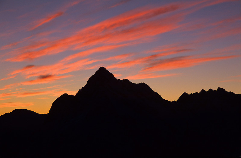 Sunset on Mt Christina