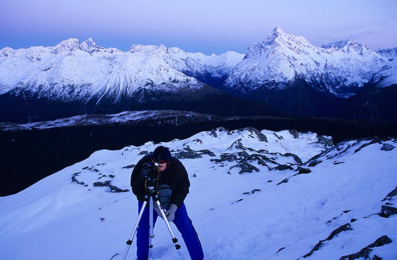 Nick at work on peak 1449