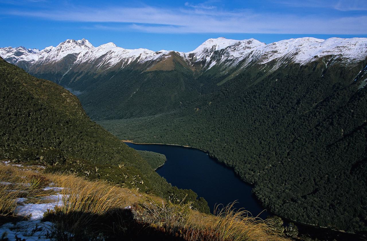 Lake McKellar and the Greenstone from above McKellar Saddle