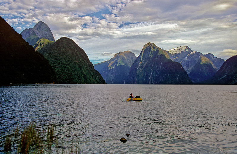 Aquanaut in Milford Sound, on the way to Sinbad Gully.