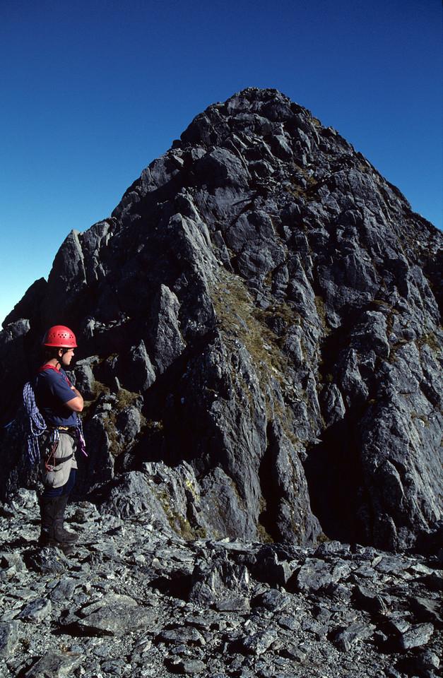 The summit of Mitre Peak - getting closer!