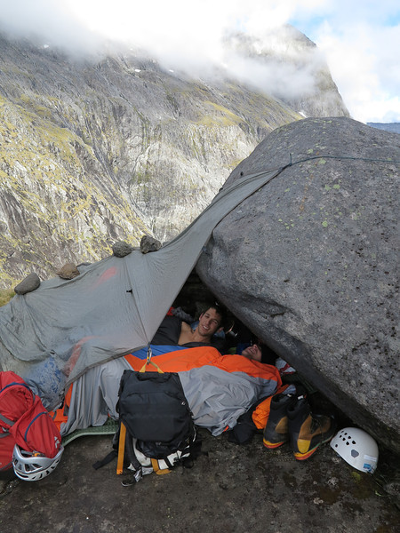 Mike Buchanan and Charlie Long, discovered at an uncomfortable bivvy on Gertrude Saddle