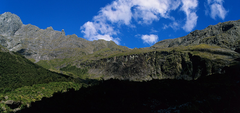 The head of the Esperance Valley. Grave-Talbot Pass to the left