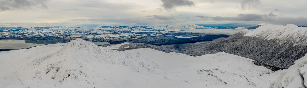 Panorama from the summit of Mt Luxmore