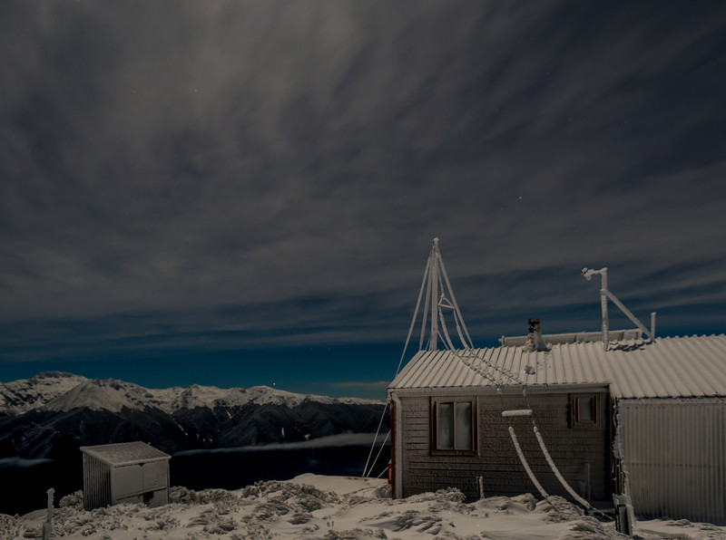 Luxmore Hut by night
