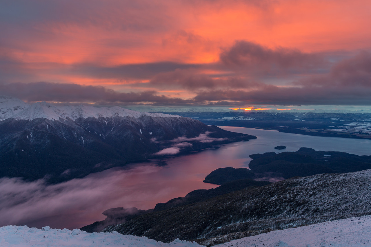 Sunrise on Lake Te Anau