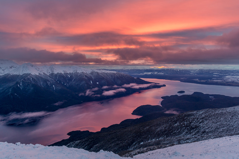 Sunrise on Lake Te Anau