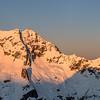 Mount Christina and Mount Crosscut at sunrise