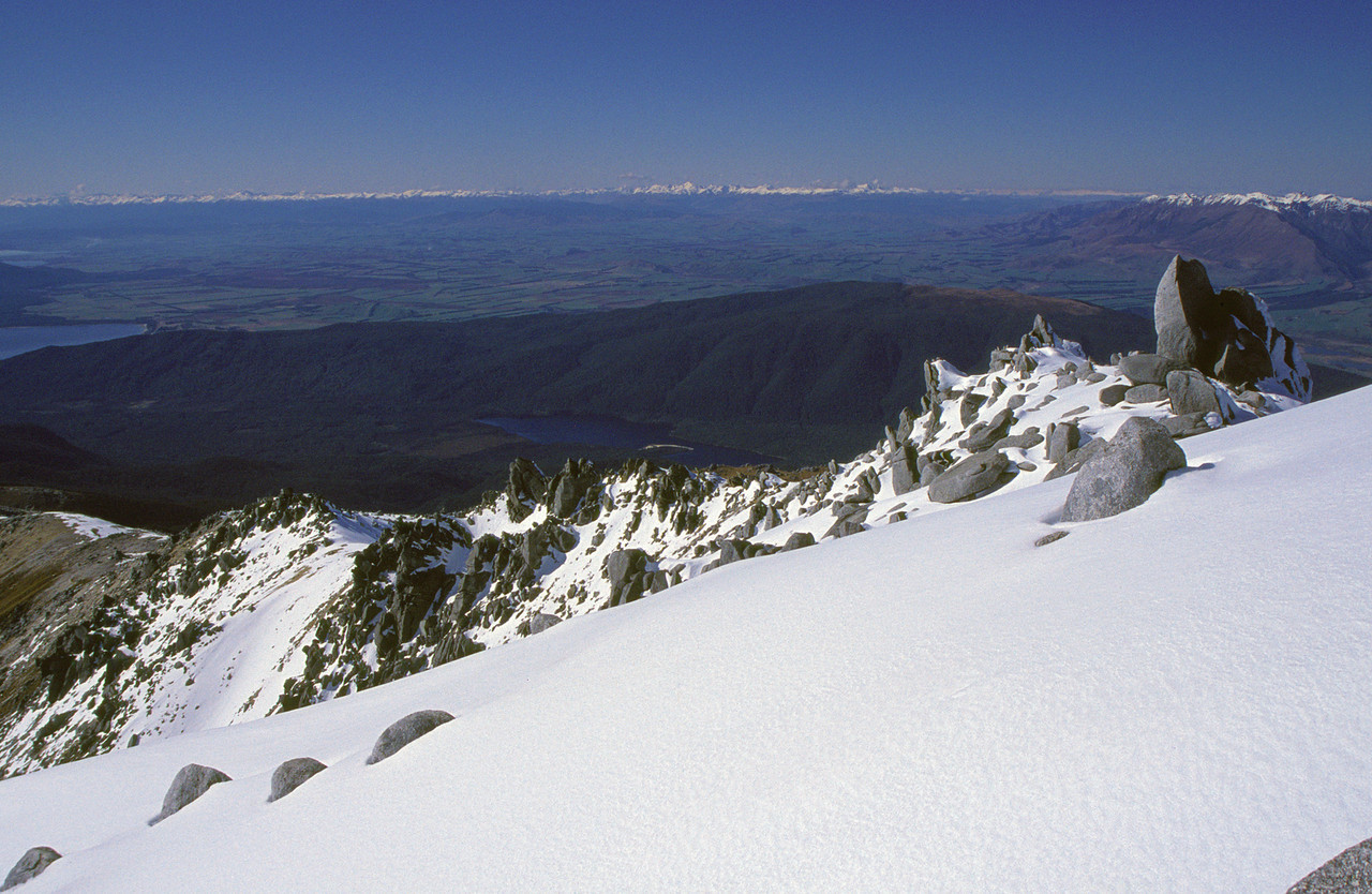 Looking south from the summit of Mt Titiroa
