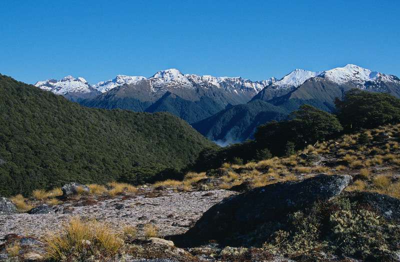 The Hunter Mountains from the north ridge of Mt Titiroa