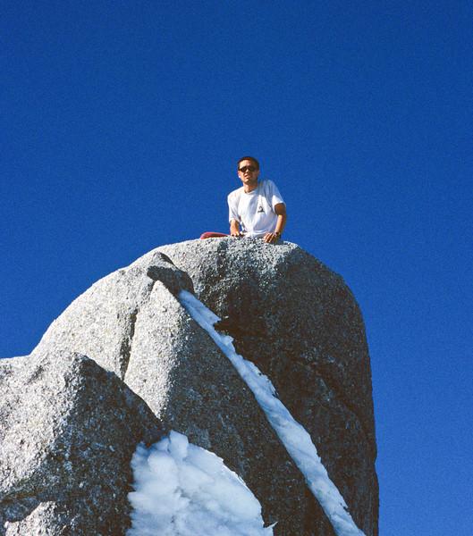 On the summit of Mt Titiroa