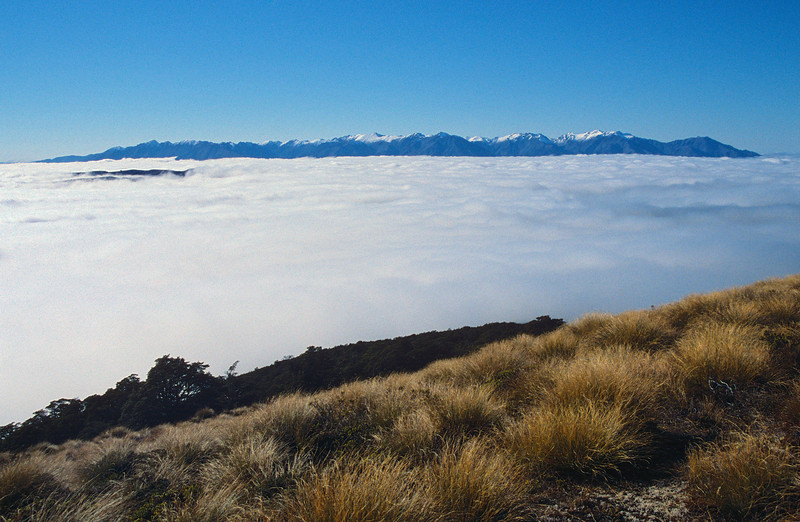 The Takitimu Mountains from the north ridge of Mt Titiroa