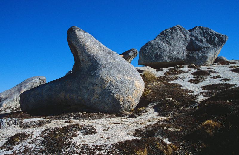 Granite boulders on Mt Titiroa's north ridge