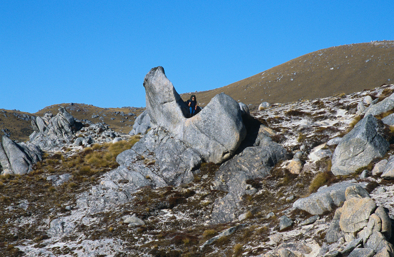 Granite boulders on Mt Titiroa's north ridge