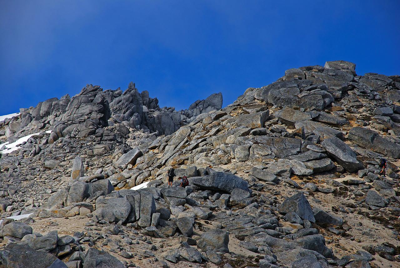 On the north ridge of Mount Titiroa.