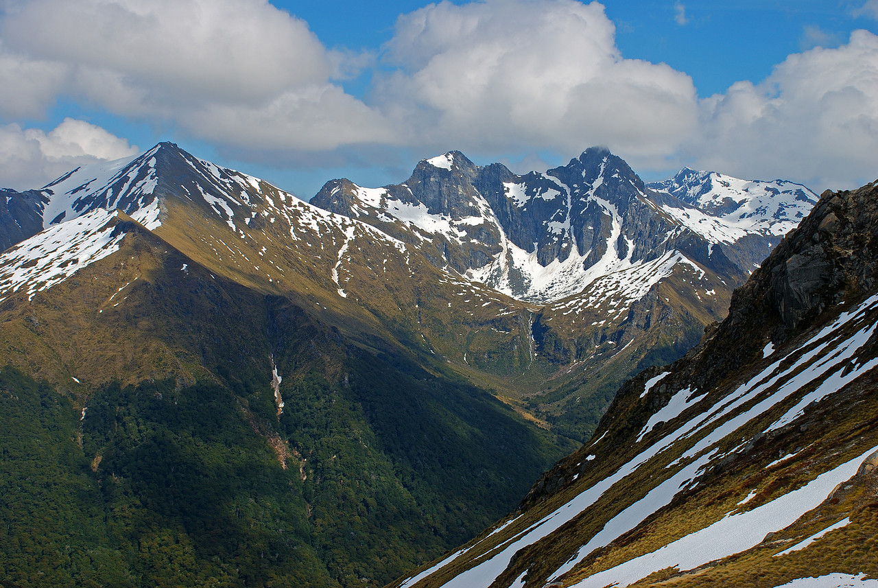 The Hunter Mountains. Unnamed peaks 1704m and 1744m at centre image.
