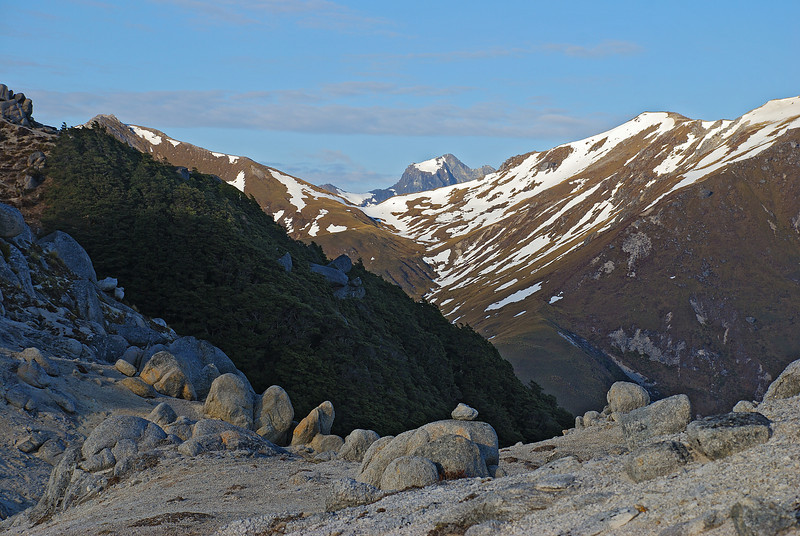 On the north ridge of Mount Titiroa, looking west.