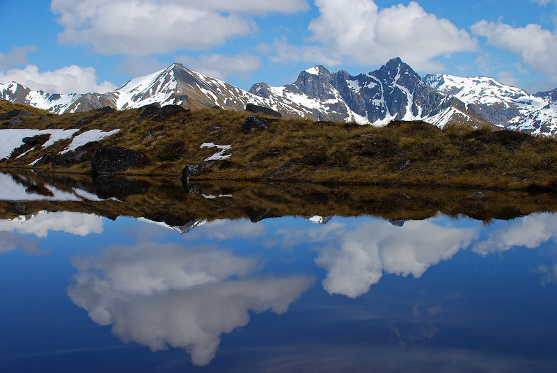 Hunter Mountains reflection
