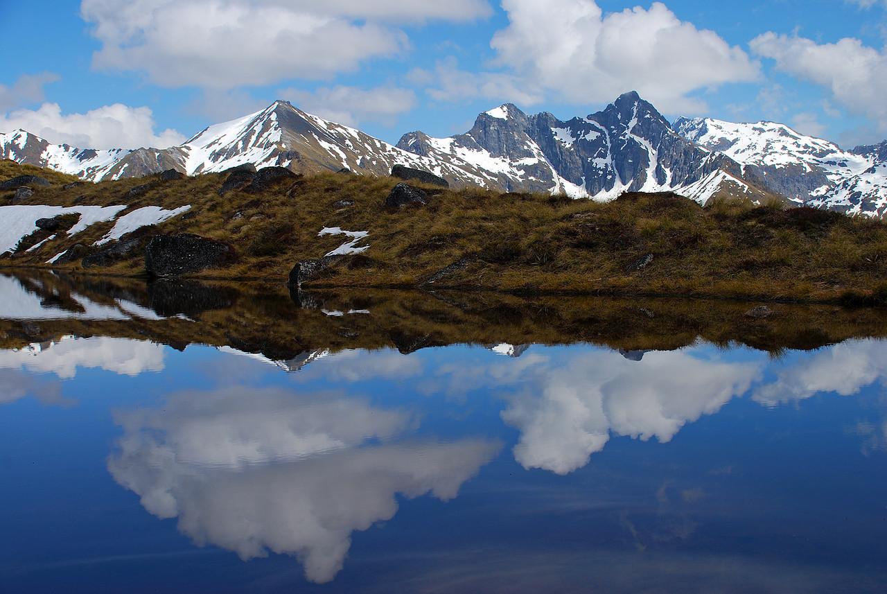 Hunter Mountains reflection