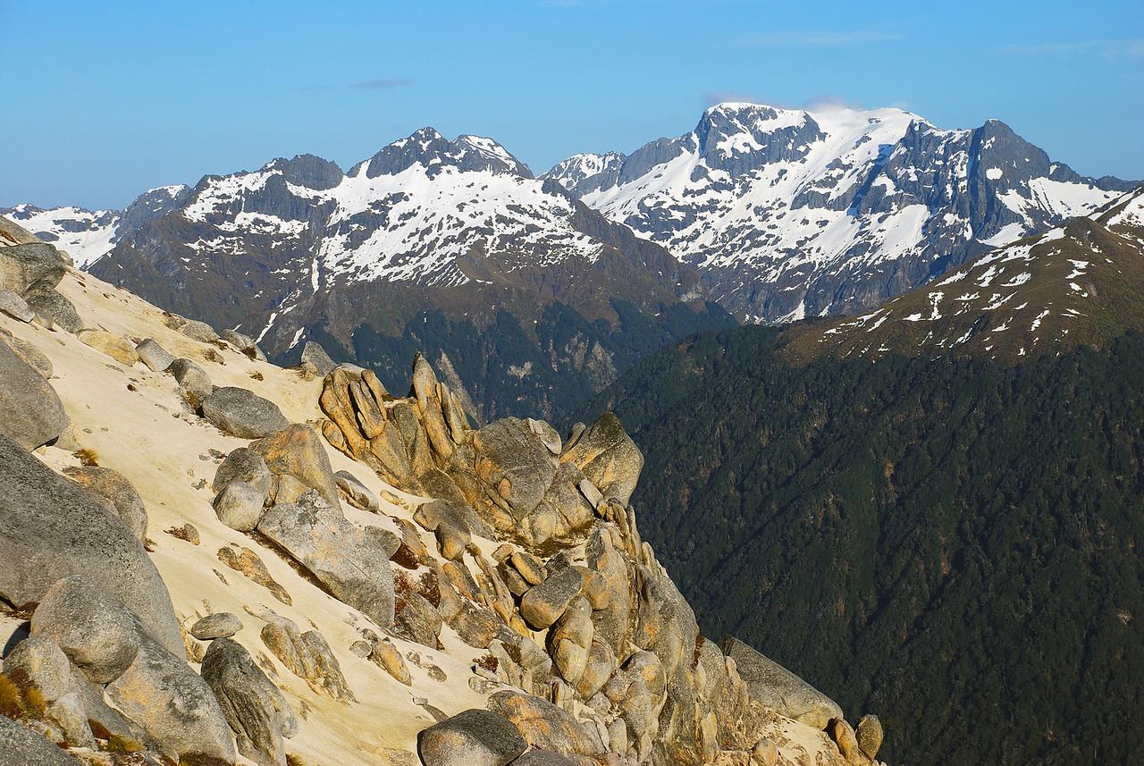 Flat Mount from the north ridge of Mount Titiroa